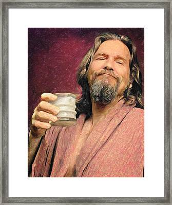 The Dude Framed Print by Taylan Apukovska