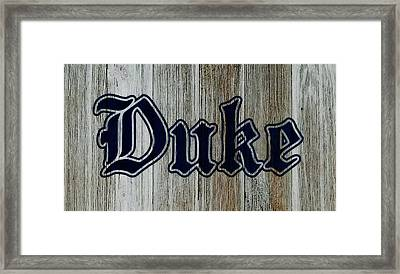 The Duke Blue Devils 1d Framed Print by Brian Reaves