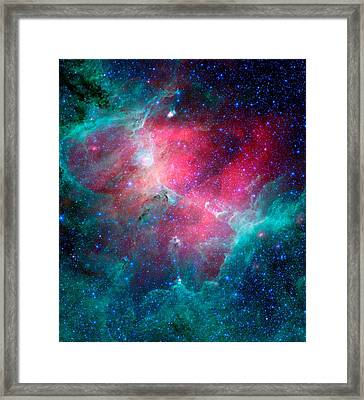 The Eagle Nebula In The Serpens Constellation Framed Print by American School