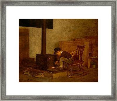 The Early Scholar Framed Print by Mountain Dreams
