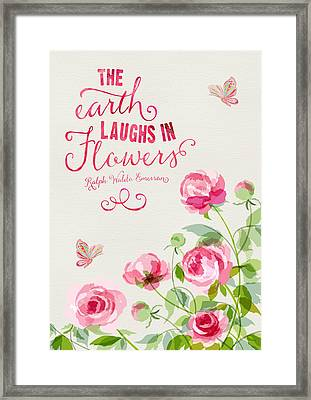 The Earth Laughs In Flowers  Framed Print by Amanda Lakey