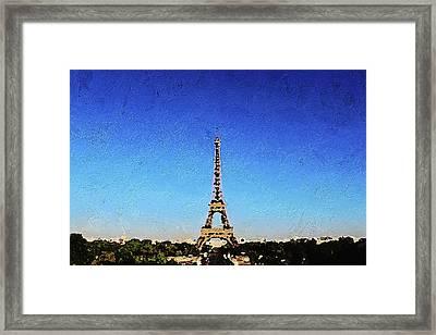 The Eiffel Tower Framed Print by PixBreak Art