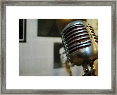 The Elvis Mic Framed Print by JAMART Photography