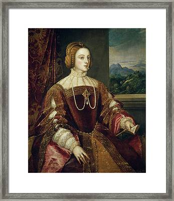 The Empress Isabel Of Portugal Framed Print
