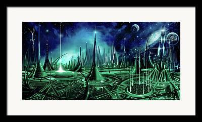 Enneagon Framed Prints