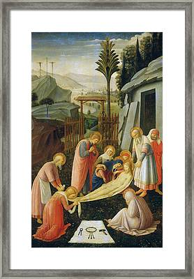 The Entombment Of Christ Framed Print by Fra Angelico