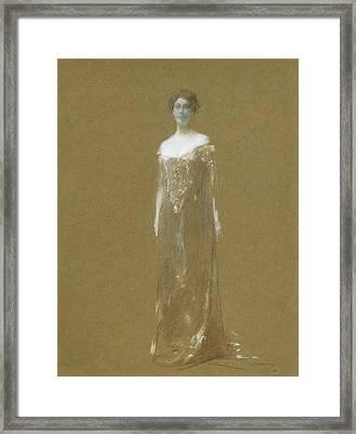 The Evening Dress Framed Print