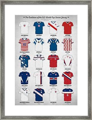 The Evolution Of The Us World Cup Soccer Jersey Framed Print