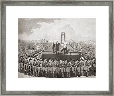 The Execution Of Louis Xvi, 21 January Framed Print