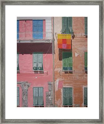 The Face Of Vernazza Framed Print