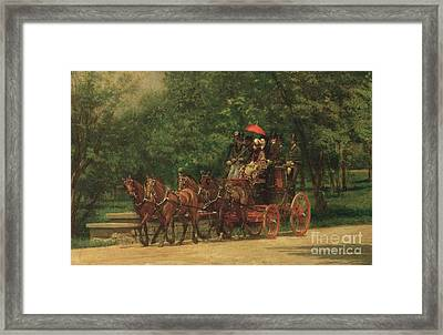 The Fairman Rogers Coach And Four Framed Print by Thomas Cowperthwait Eakins