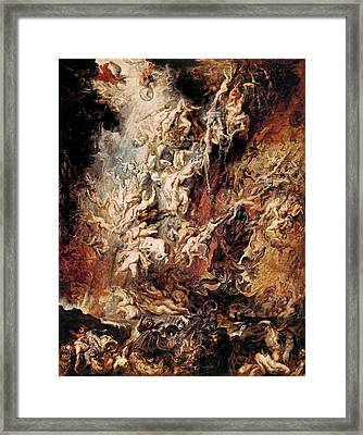 Framed Print featuring the painting The Fall Of The Damned by Peter Paul Rubens
