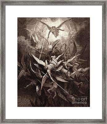 The Fall Of The Rebel Angels Framed Print