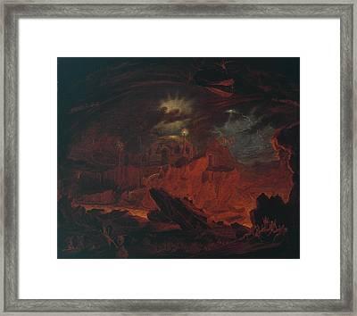 The Fallen Angels Entering Pandemonium Framed Print