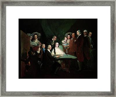 The Family Of The Infante Don Luis Framed Print