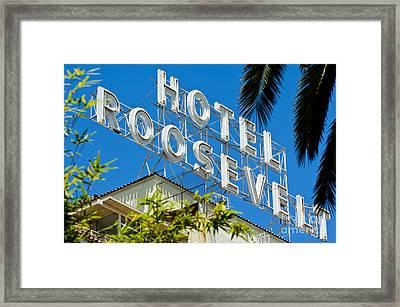 The Famous Roosevelt Hotel Framed Print