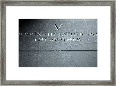 The Fifth Commandment Framed Print