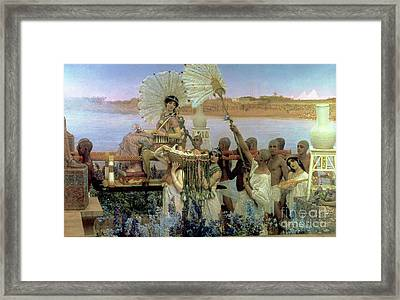 The Finding Of Moses Framed Print by Sir Lawrence Alma Tadema