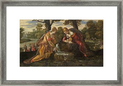 The Finding Of Moses Framed Print by Tintoretto