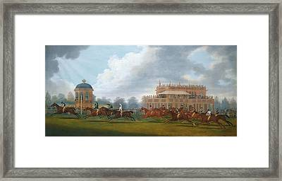 The Finish Of The St. Leger Stakes Framed Print by Clifton Tomson