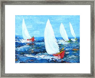 The Finish  Framed Print by Pauline Ross