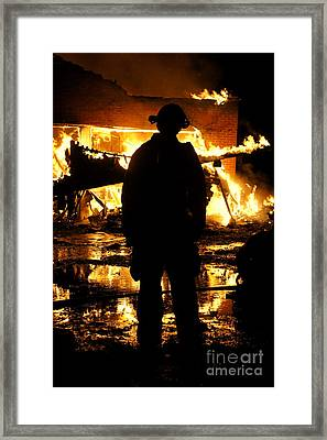 The Fireman Framed Print by Benanne Stiens