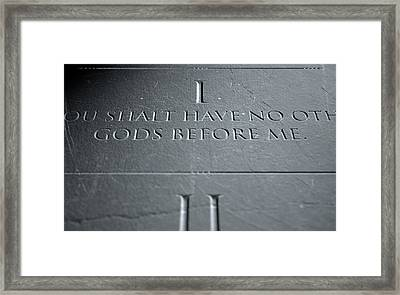 The First Commandment Framed Print by Allan Swart