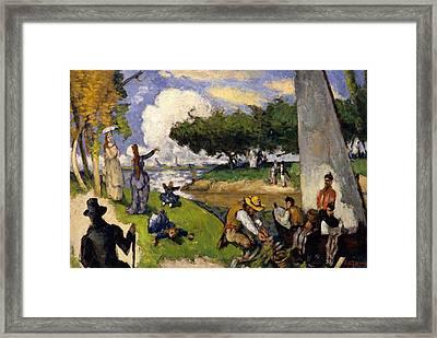 The Fishermen   Fantastic Scene Framed Print by Paul Cezanne