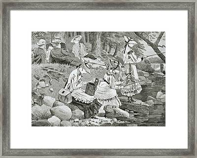 The Fishing Party Framed Print