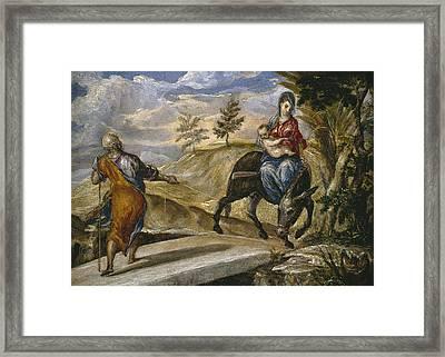 The Flight Into Egypt Framed Print