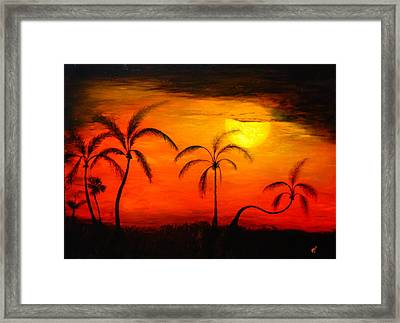 The Florida Sun Framed Print by Monty Perales