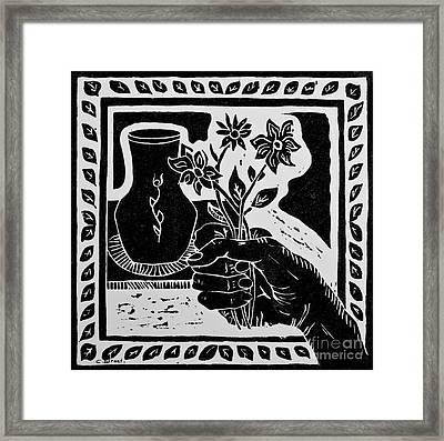 The Florist Framed Print by Caroline Street