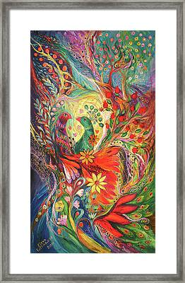 The Flowers And Fruits Framed Print