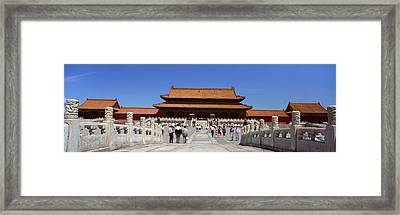 The Forbidden City - Tai He Men Gate Framed Print by Panoramic Images