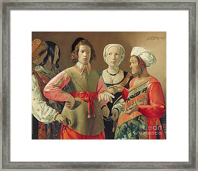 The Fortune Teller Framed Print by Georges de la Tour