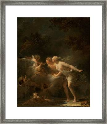 The Fountain Of Love Framed Print by Mountain Dreams