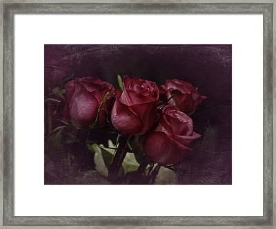 Framed Print featuring the photograph The Four Roses by Richard Cummings