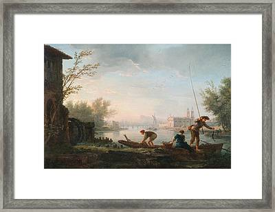 The Four Times Of Day - Morning Framed Print by Claude-Joseph Vernet