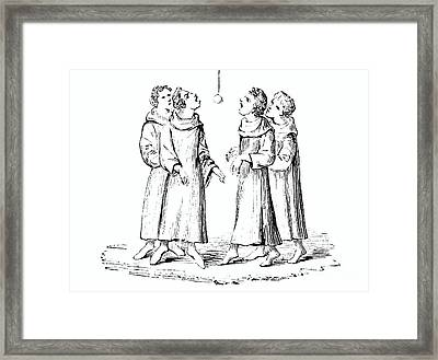 The Game Of Bob Apple Or Swinging Apple Framed Print