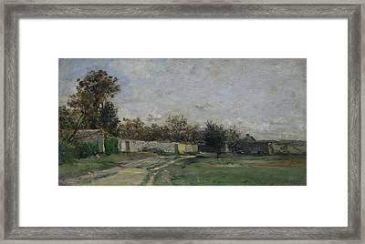 The Garden Wall Framed Print by Charles-Francois Daubigny