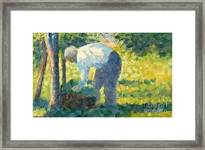 The Gardener Framed Print by Georges Pierre Seurat