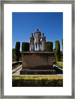 The Gardens Of The Alcazar De Los Reyes Framed Print