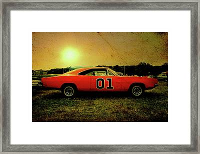 Framed Print featuring the photograph The General Lee by Joel Witmeyer
