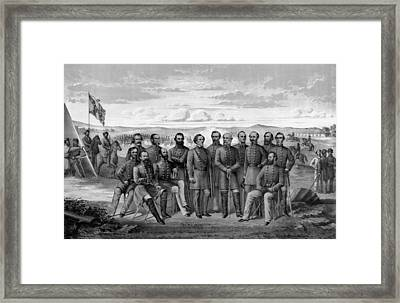 The Generals Of The Confederate Army Framed Print by War Is Hell Store