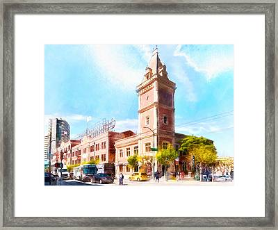 The Ghirardelli Chocolate Factory Clock Tower San Francisco Cali Framed Print