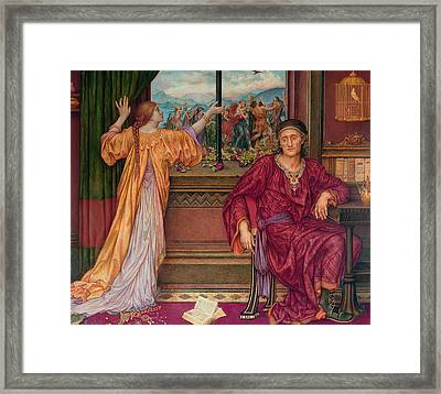 The Gilded Cage Framed Print by Evelyn De Morgan