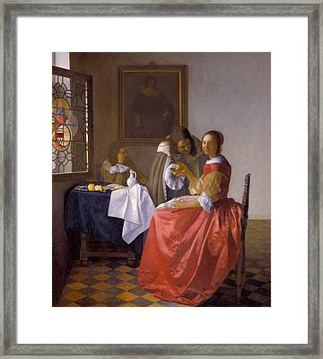 The Girl With A Wineglass Framed Print