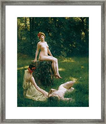 The Glade Framed Print by Julius LeBlanc Stewart