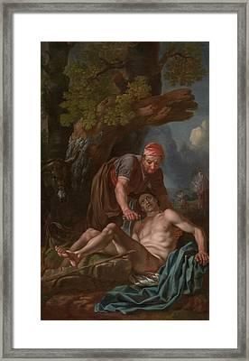 The Good Samaritan Framed Print by Francis Hayman