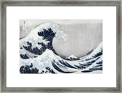 The Great Wave Of Kanagawa Framed Print by Hokusai